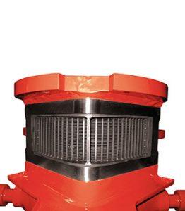 Durch das große günstig angeordnete Spaltsieb der Vollrath-Perlmühle (-Rührwerkskugelmühe) ist eine sehr große Viskosität und Volumenstrom möglich, auch ideal für die Kreismahlung.